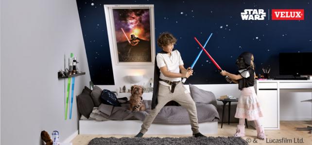 Star Wars & VELUX Imperium Snu. Rolety zaciemniające do okien dachowych z nadrukiem.